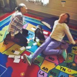 Sarah and Jolie play their Solar System vocabulary game and get a special visit from Scout! He wants to play too.